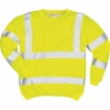 Hi-Vis Sweatshirt Klass 3 Gul 4XL